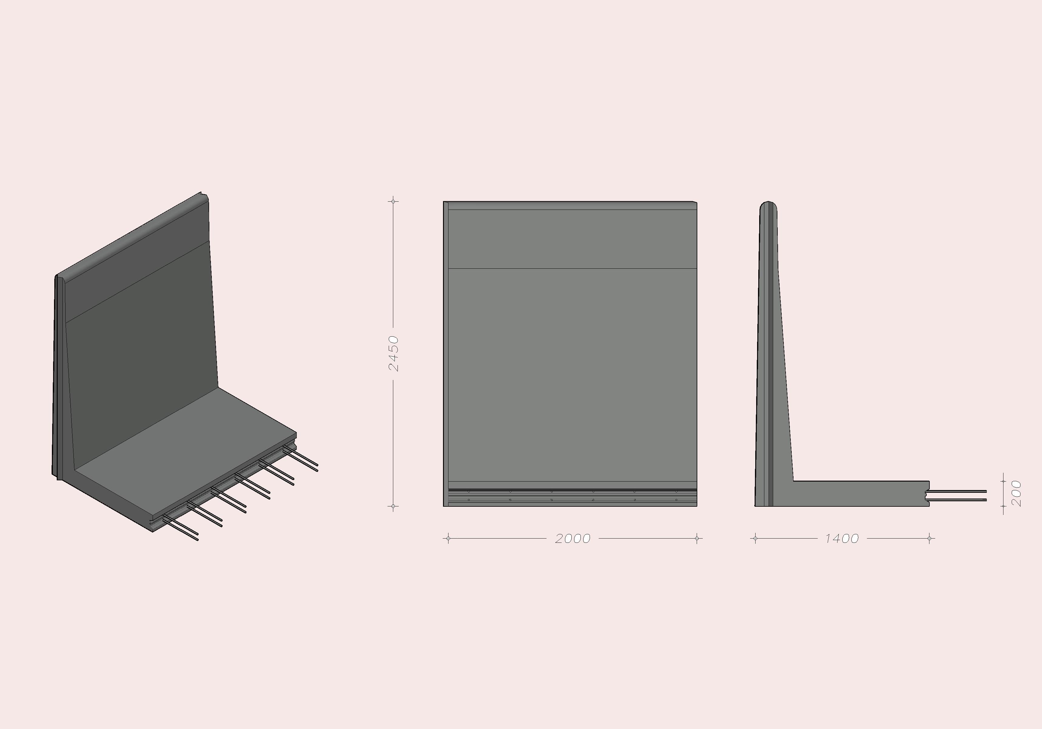 L-245 X 200 - Standard element
