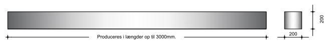 20x20x300cm - Bærebjælke