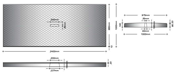 G100 - Gangplade m. slids til gylleprop