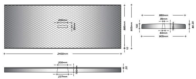 G90 - Gangplade m. slids til gylleprop