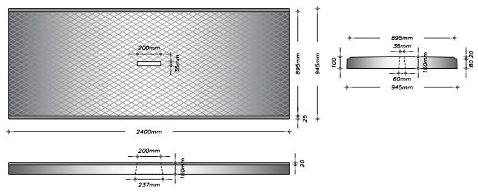 G90F - Gangplade m. slids til gylleprop