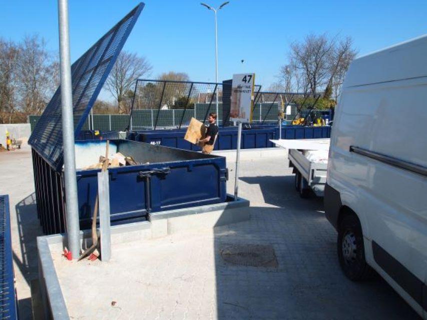 Elementer Genbrugsstation L-elementer støttevægge