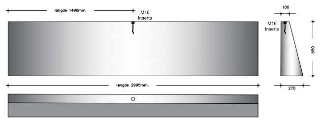 65 cm - Konisk Foderbordselement