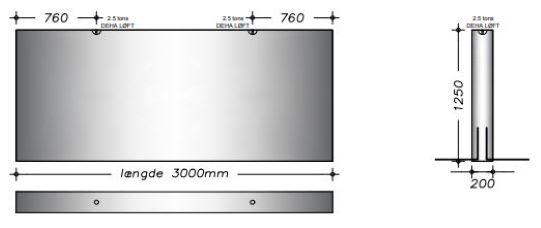 20x125x300cm - Kanalelement