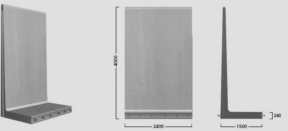 L-400 X 240 - Standard element