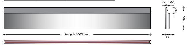 K08045 SP - 45 cm Kanalelementer til støbejernsriste