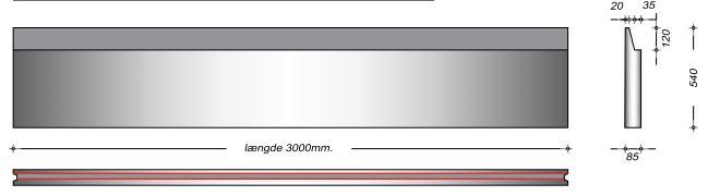 K08054 SP - 54 cm Kanalelementer til støbejernsriste