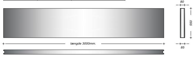 K08055 - 55 cm Kanalelementer