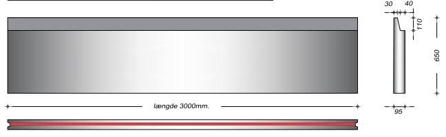 K08065 SP - 65 cm Kanalelementer til støbejernsriste