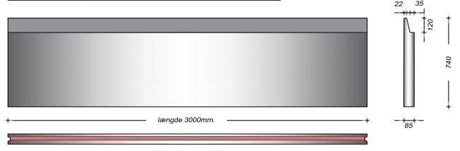 K08074 SP - 74 cm Kanalelementer til støbejernsriste