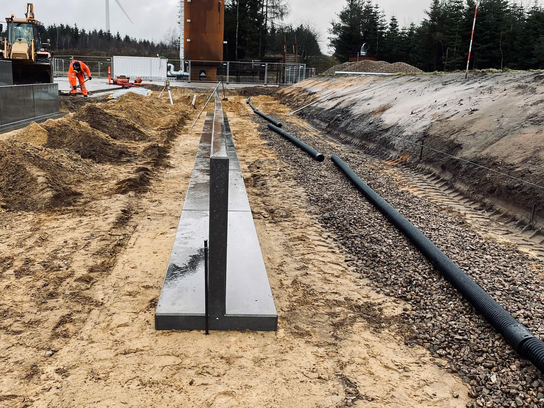 T-elementer - Niveau forskel løsning - støttevægge - støttemur - T-100