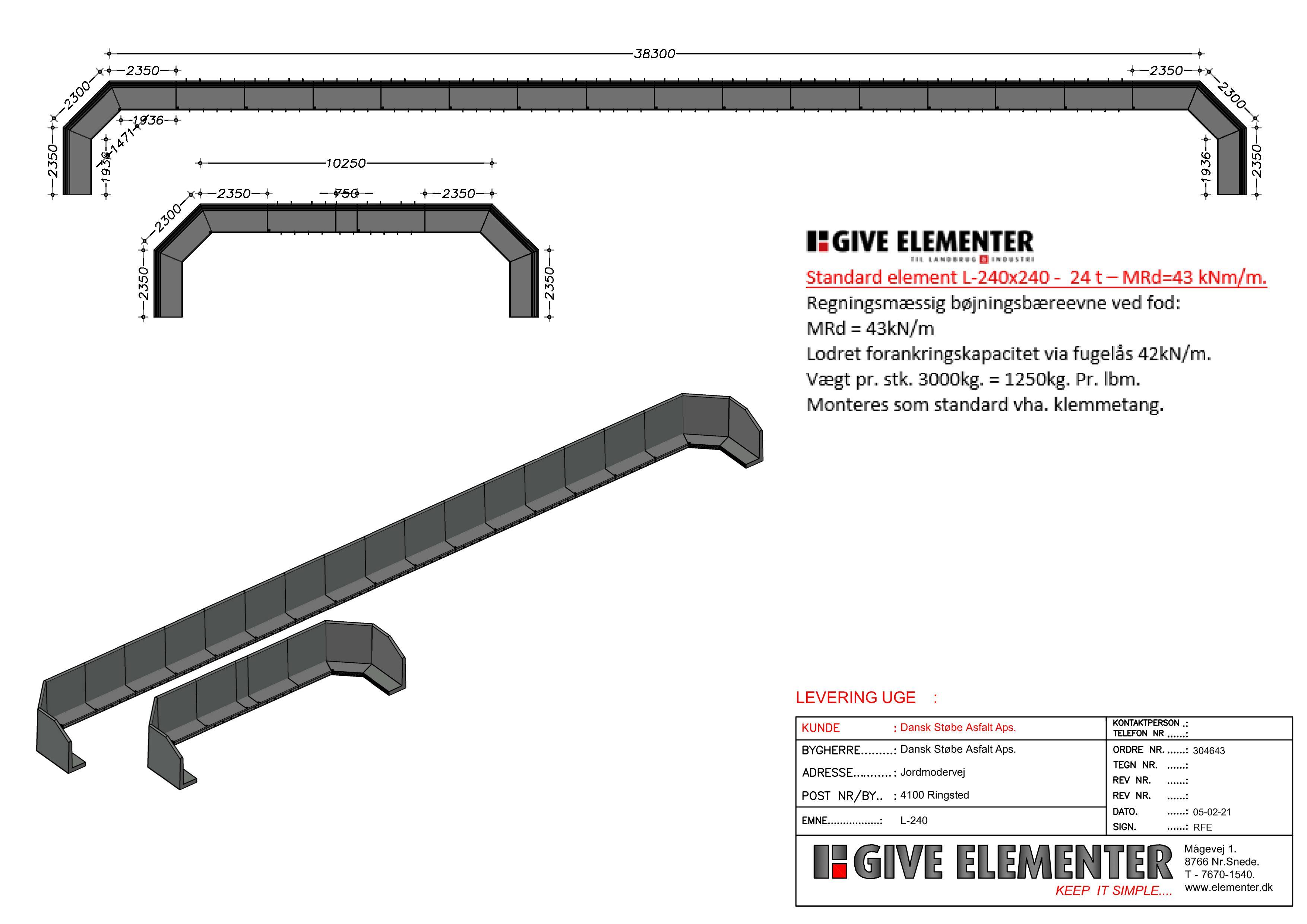Båsesystemer - L-240 - L-elementer - Opbevaring af materialer - Sortering